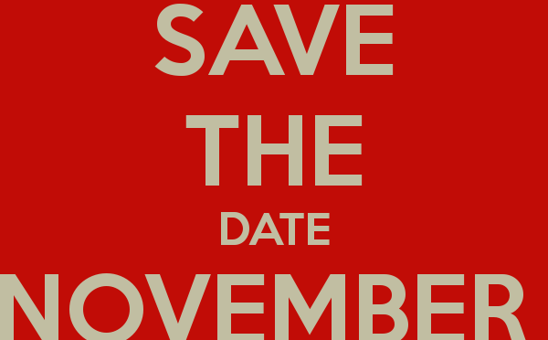 Save the date 22 november